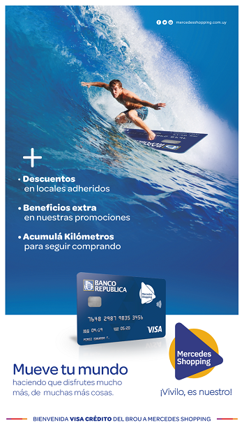 banner tarjeta BROU Mercedes Shopping